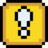 Retro Exclamation Block Icon